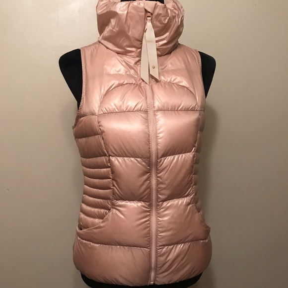 Lululemon Fluffin Awesome Rose Gold Fluffy Vest